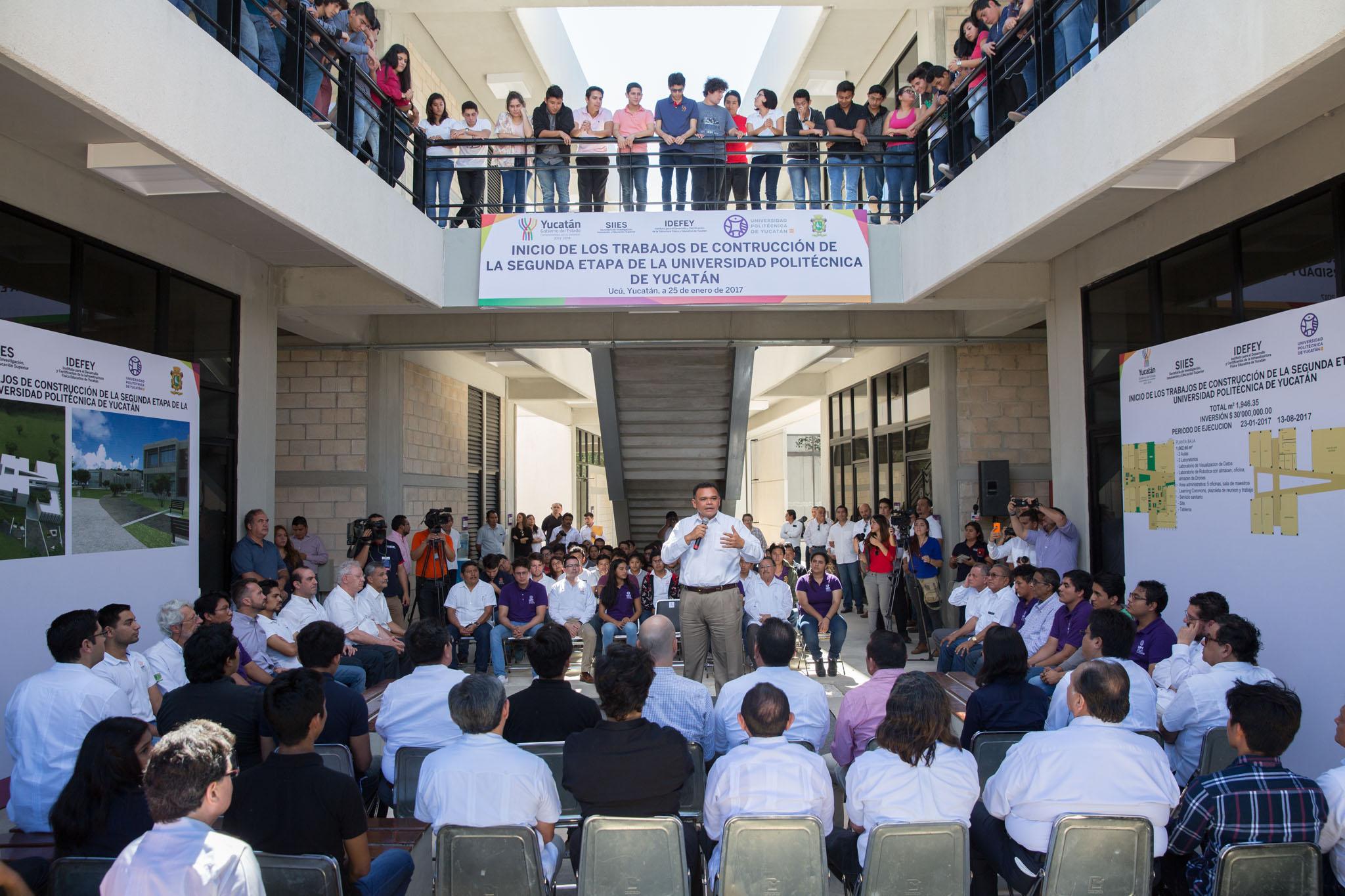 Inauguración segunda fase UPY