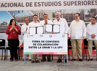 La Universidad Politécnica de Yucatán y la UNAM firman convenio de colaboración