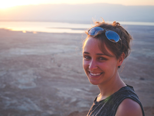 JFW participant on a morning hike in beautiful Masada