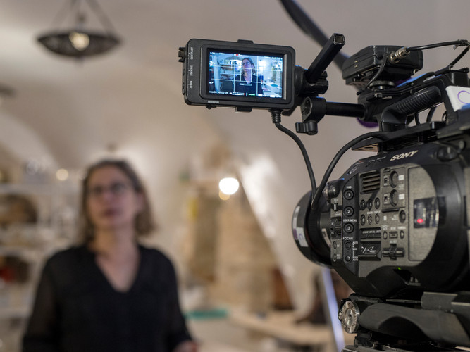 A cinematographers best friend doing work on set!