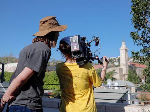 Teamwork makes the dream work on set in beautiful Ein Kerem._MG_2092.jpg