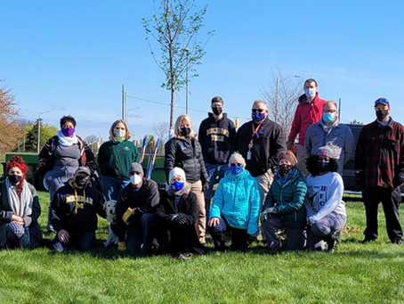 Henry Ford College Earth Day planting