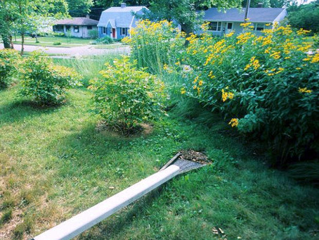 Stormwater landscapes and basement flooding