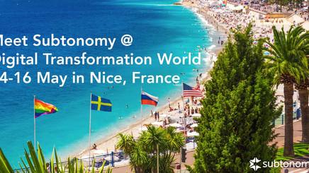 TM Forum Digital Transformation World in Nice, 14-16 May