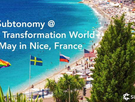 TM Forum Digital Transformation World in Nice, 14-16 May
