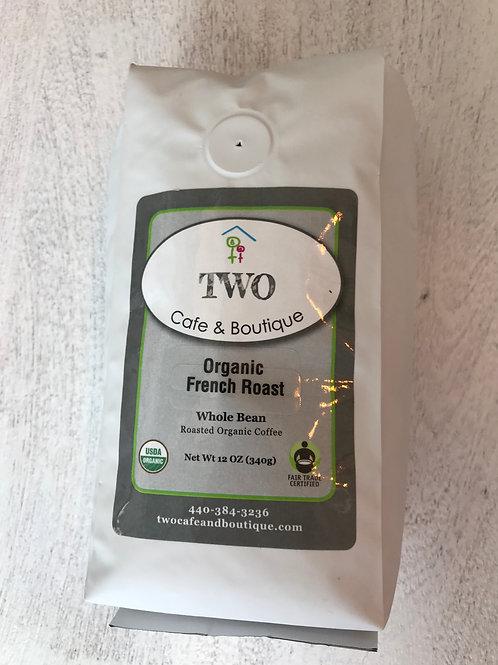 Organic French Roast Whole Beans 12 oz.