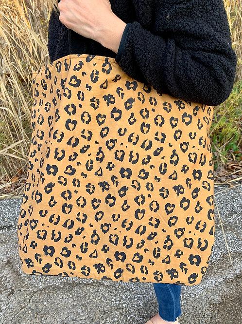 Oversized Leopard Bag