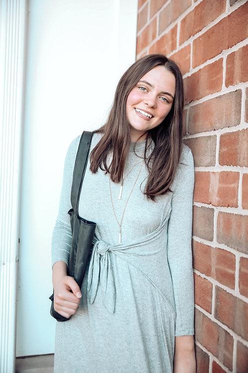 Heather Gray Wrap Dress
