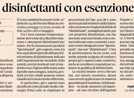 Gel igienizzanti mani: non rientrano nelle agevolazioni IVA del Decreto Rilancio.