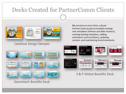 PartnerComm Decks