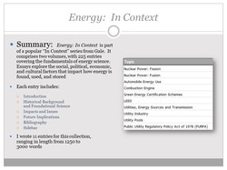 Energy in Context