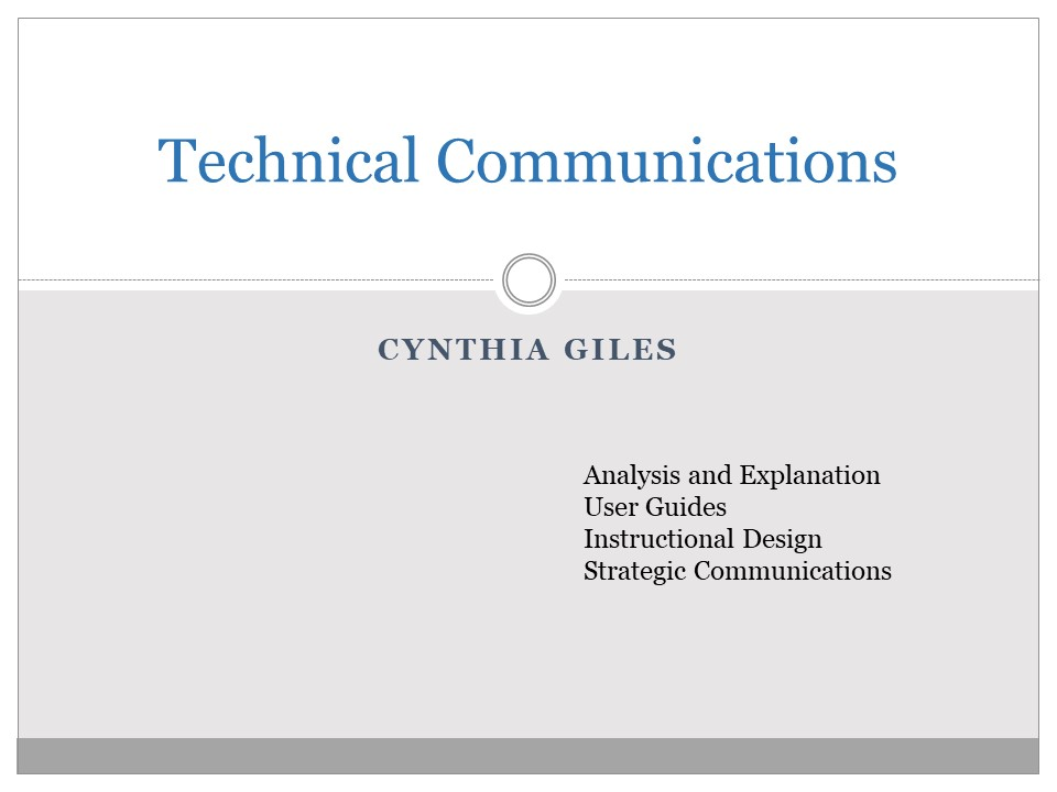 Technical Communications