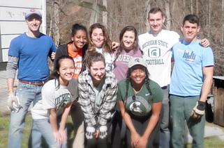 MSU Volunteers with Housing Developmen Alliance
