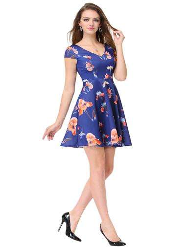 Capped Sleeve Casual Summer Dress