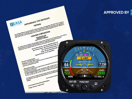 uAvionix AV-30-C STC Now Available to EASA Aircraft