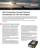UAV Transponders - Essential Technical C