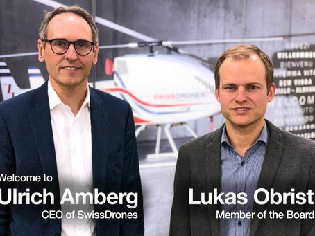 SwissDrones announces the on-boarding of its new CEO Ulrich Amberg
