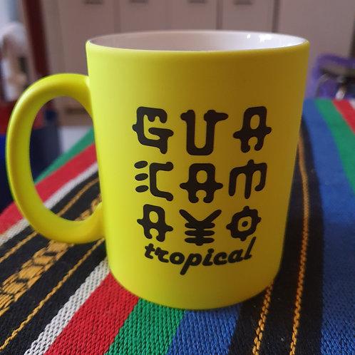 Taza Amarilla Neon | Guacamayo Tropical