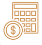 money-calculator-icon-outline-style-vect