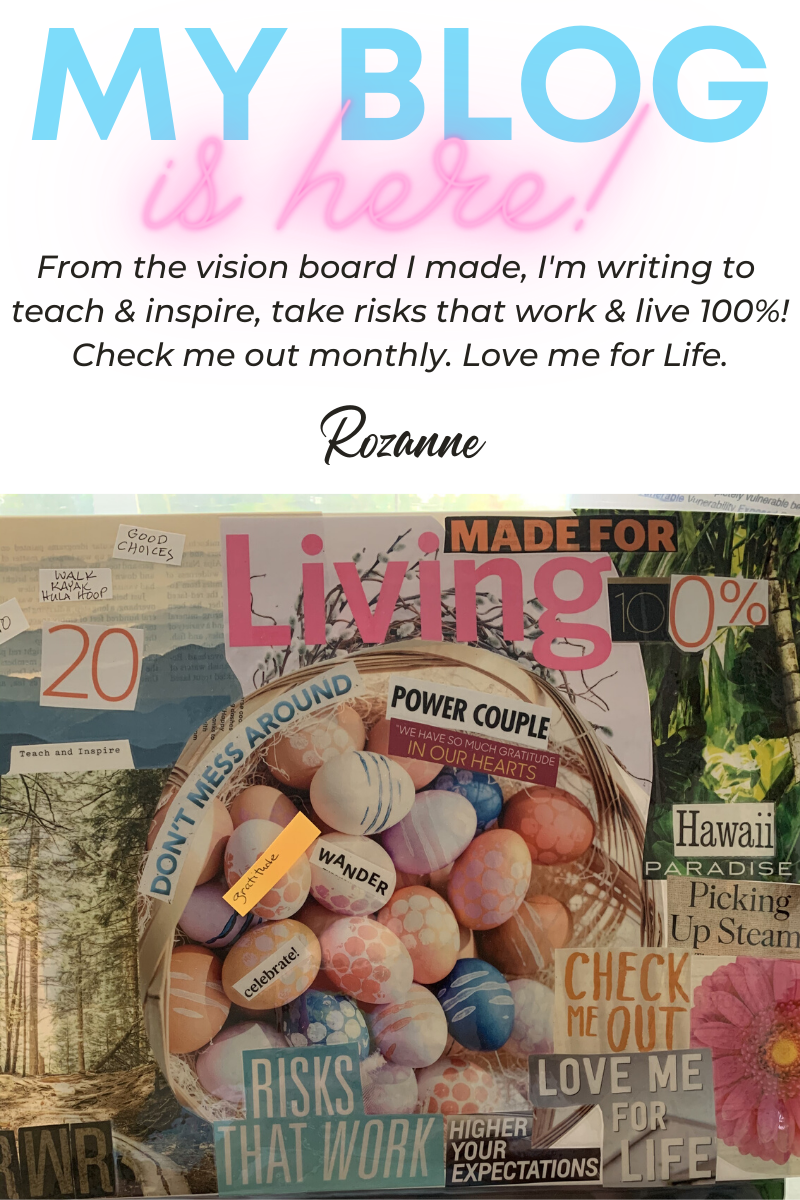 My current vision board for 2020 gets my blog going!