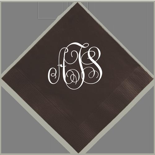 Classic Monogram Foil-Pressed Napkin