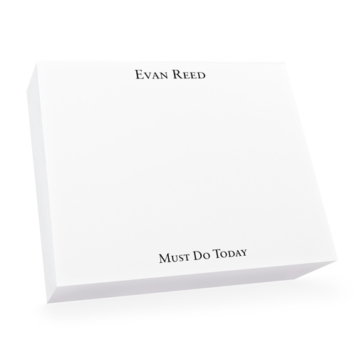Super Slab White Notepad