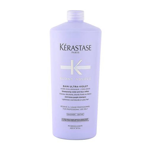 KERASTASE BLOND ABSOLU BAIN ULTRA VIOLET 1000ML - CHAMPÙ ANTI - AMARILLO PARA CA