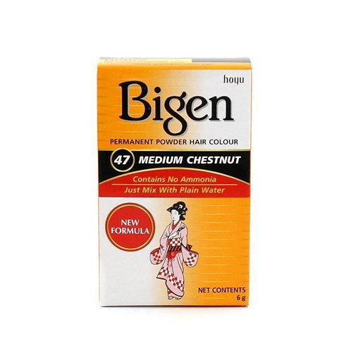 Bigen PERMANENT POWDER HAIR COLOUR 47 Medium Chestnut