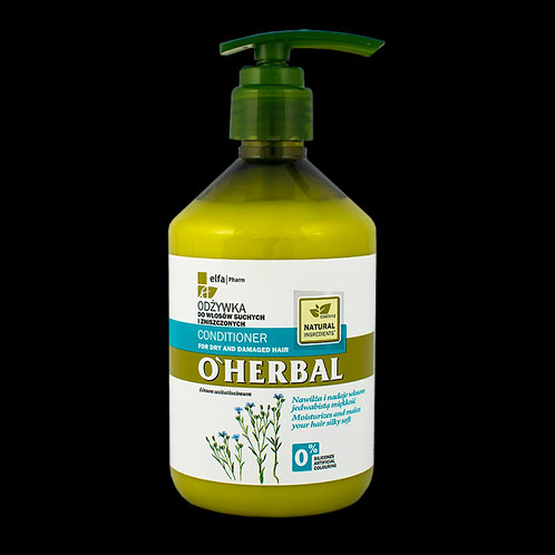 O'herbal Conditioner for Dry and Damaged Hair With Flax Extract 500ml