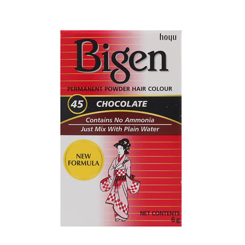 Bigen PERMANENT POWDER HAIR COLOUR 45 Chocolate