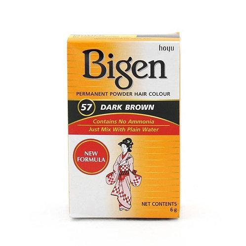 Bigen PERMANENT POWDER HAIR COLOUR 57 Dark Brown