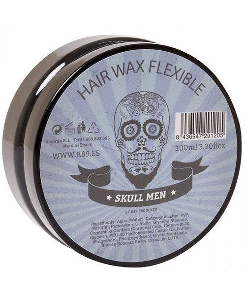 SKULL MEN HAIR WAX FLEXIBLE. CERA FIJACIÓN FLEXIBLE