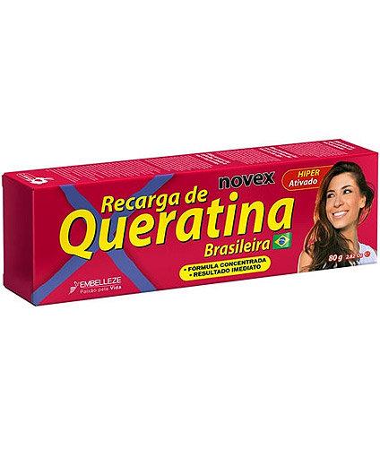 Recarga De Queratina Brasileña Novex Brazilian Keratin 80 Gr