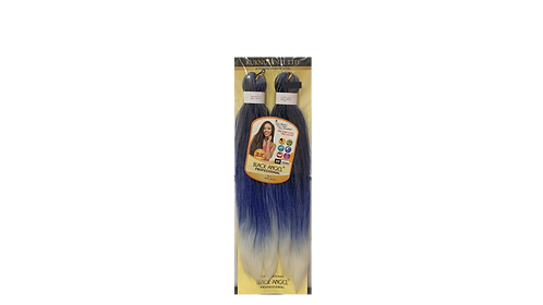 """KUKNUS BLACK ANGEL PRE STRETCHED DOUBLE 2X 20""""COLOR T1B/BLUE/WHITE"""
