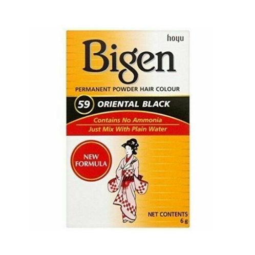 Bigen PERMANENT POWDER HAIR COLOUR 59 Oriental Black