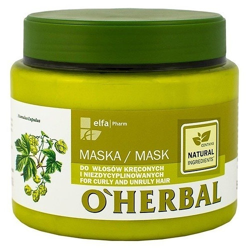 O'HERBAL MASK FOR CURLY AND UNRULY HAIR WITH HOPS EXTRACT