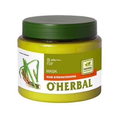 O`Herbal, mascarilla para fortalecer el cabello con extracto de raíz de calamo