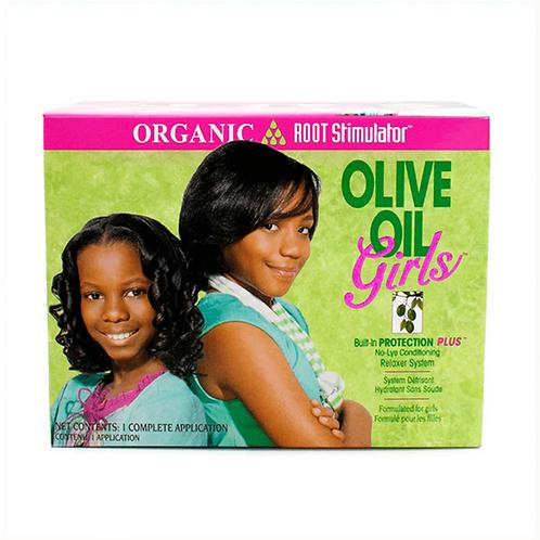 Organic Root Aceite de Oliva las niñas Relaxer Kit