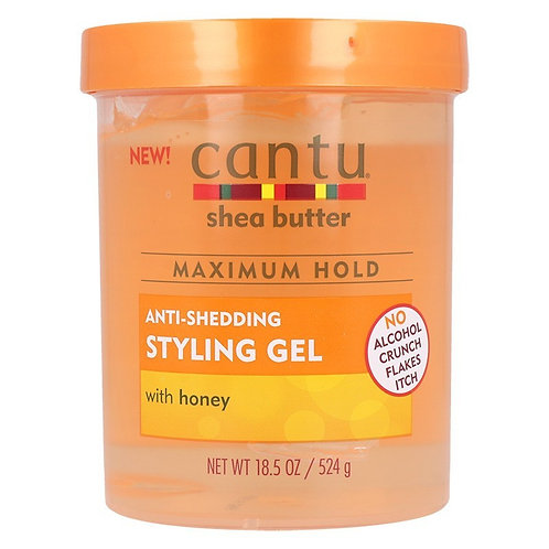 Cantu Shea Butter Maximum Hold Anti-Shedding Styling Gel with Honey 18.5 oz