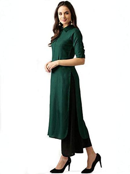Women's Kurta - Rayon Stitched Green - AS