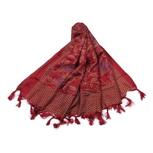 Women's Dupatta - Traditional Printed Silk - TB