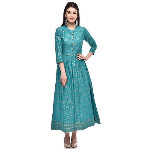 Women's Kurta - Cotton A-Line Anarkali - GR