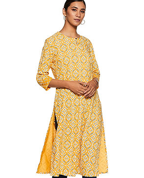 Women's Kurta - Rayon Straight Fit (Yellow) - MX