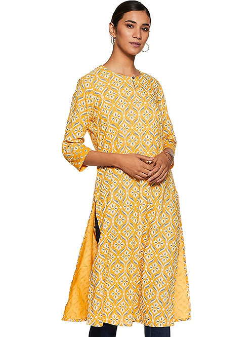 Women's Kurta - Rayon Straight Fit (Yellow) - MX
