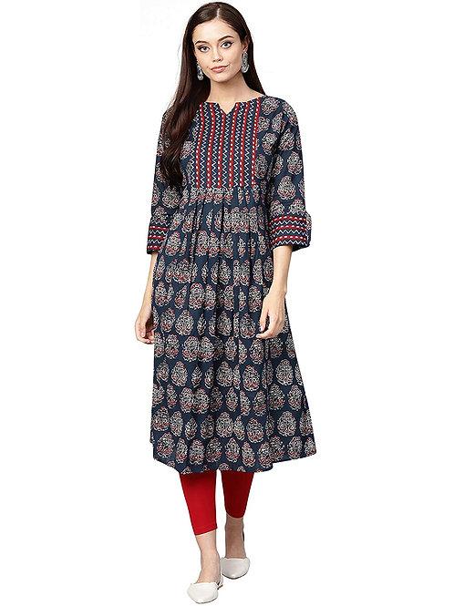 Women's Kurta - Cotton Anarkali Fit - IE