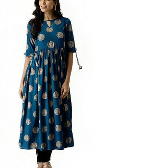 Women's Kurta - Cotton Printed Anarkali - AC