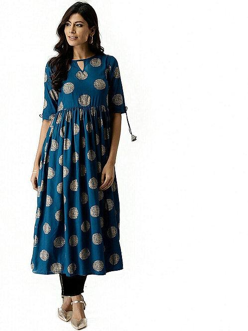 Women's Kurta - Cotton Printed Anarkali - AC