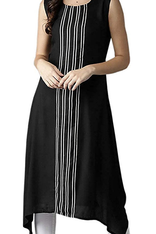 Women's Kurta - Crepe Sleeveless - NV