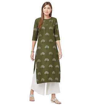 Women's Kurta - Crepe Straight Fit - GO