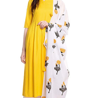 Women's Kurta Set - Rayon Set with Dupatta and Palazzo - AM